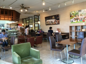 Inside Deco's Dog Cafe