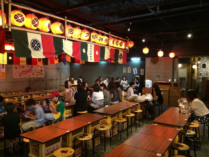 Gyoza Stadium's eating area