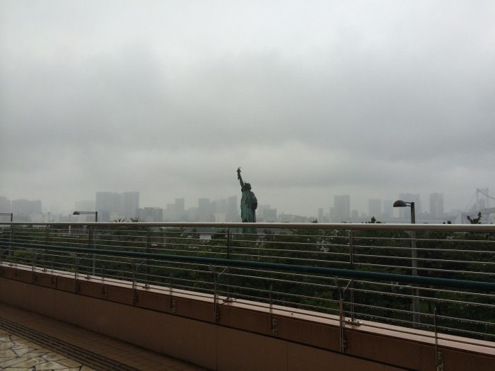 Statue of Liberty in Odaiba from afar