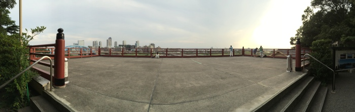 Tamagawa Shingen Shrine sits next to a gorgeous view of the Tama River.