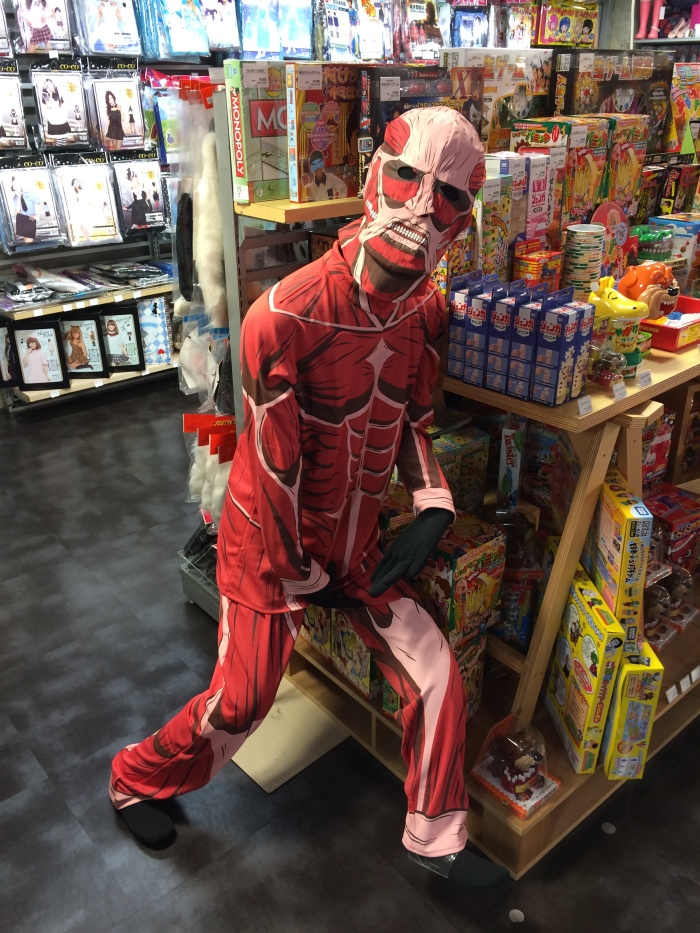 This titan costume is simultaneously horrifying and hilarious