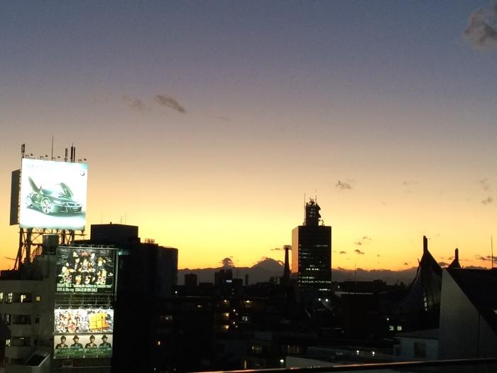 Closer view of Fuji.