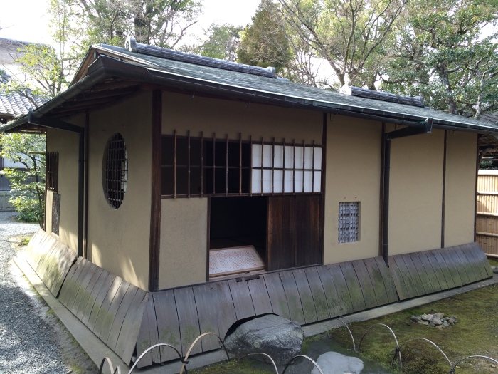 A teahouse said to have been designed by Sen no Rikyū, legendary tea master.