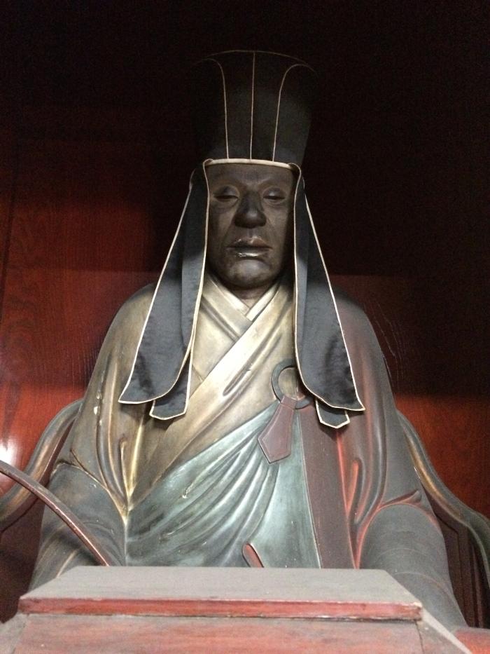 A statue of Tetsugen.